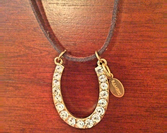 Horse Shoe Pendant Necklace