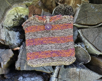 Handmade knitted purse knitted small bag vegan pouch vegan bag gift for her gift for him womens accessory
