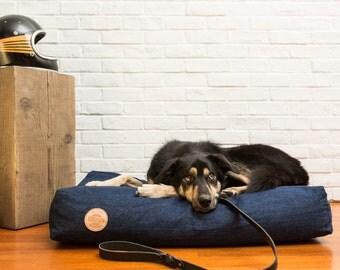 CLASSIC DENIM Pet Bed   100% Cotton Denim   Handsome Mountain Pet Supplies