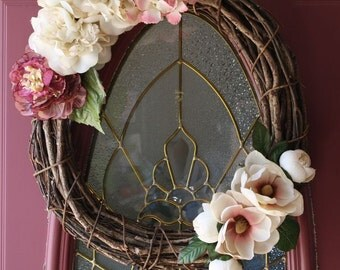 Grapevine Rose Spring Wreath