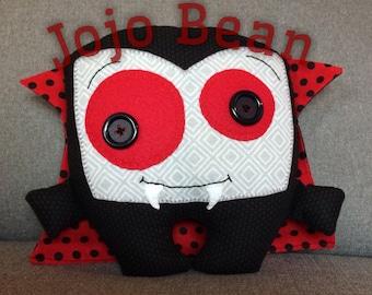 Halloween monster Dracula handmade plushie
