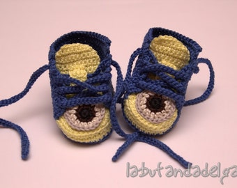 Crochet Converse Minion All Star