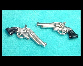 Six-Shooter Pistol Pair Dollhouse Miniature