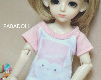 Pink T shirt for 1/8 1/6 Yosd 1/4 Msd 1/3 SD16 SD17 Uncle IP EID Bjd Doll Clothes Customized