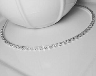 SALE! Genuine Crystal Rhinestone Silver Toned 'Simplicity' Wedding Bridal Headband for Bride, Bridesmaids or Prom