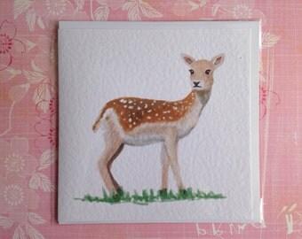 Fallow Deer Greetings Card