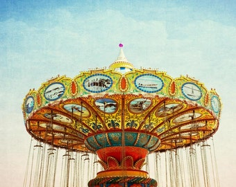 Carnival Picture, Carnival Photograph, Fine Art Photography, Sea Swings, Carnival Wall Art, Carousel Picture, Summer Wall Art, Summer Decor