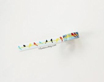 Washi Tape Birds Blue WTA-04