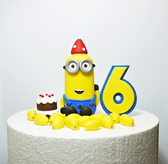 Fondant Minion Cake Topper Fondant Minion By Sugardecorbyletty