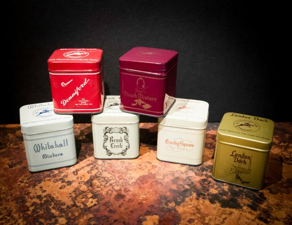 Set of Six Antique Tobacco Tins