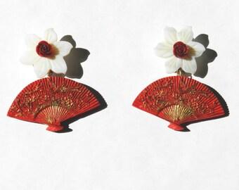 Fans earrings