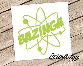 Bazinga, The Big Bang Theory Vinyl Decal Sticker