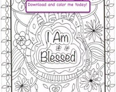 I Am Blessed - Downloadable Scripture Coloring Page