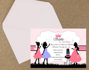 Silhouette Girl Fairies Party Invitation