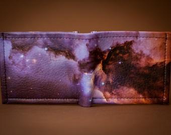 Space wallet, mens wallet,  womens wallet, leather wallet