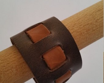 Leather bracelet, genuine leather wristband, first class leather cuff bracelet, wrist band, Brown