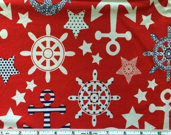 Red White and Blue Nautical Changing Pad Cover