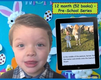 52x Personalized Children's Books with Photo- 12 mth (52 titles) set of personalized kids eBooks for Pre-Schoolers with photo and name.