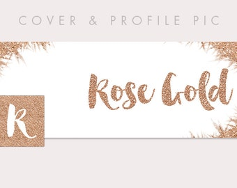 Rose Gold Timeline Cover + Profile Picture | Rose Gold | Cover, Profile Picture, Branding, Blog Header, Website Banner