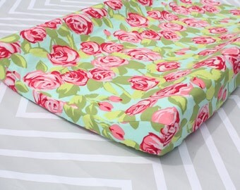 Floral Changing Pad Cover - Floral Nursery Essentials - Floral Collection