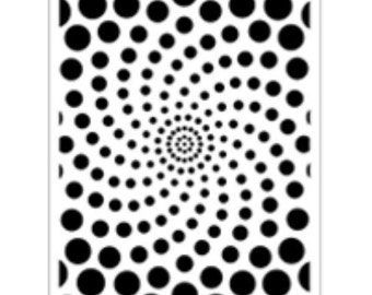Graduated Spiral Dots- Steel Embossing & Stencilling Template by Dreamweaver