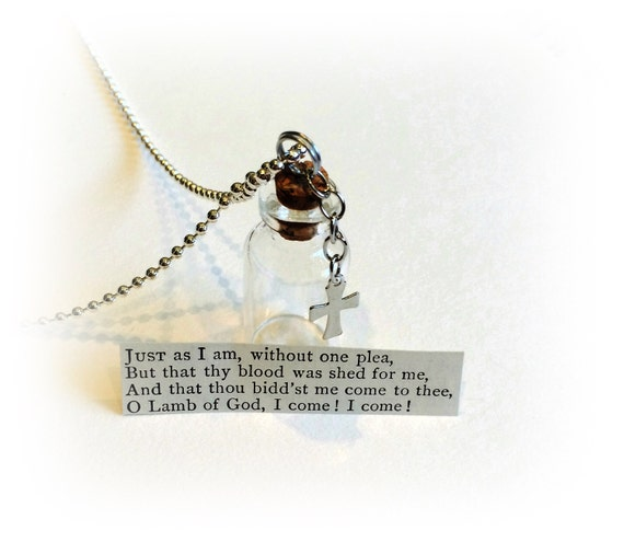 Wedding Altar Call: Hymn Necklace Just As I Am Scripture Bible Verse By