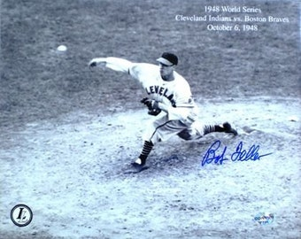 Bob Feller SIGNED 8x10 Photo- With Hologram