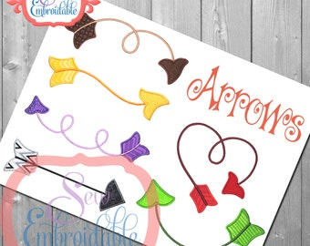 Arrow Set Embroidery Design For Machine Embroidery INSTANT DOWNLOAD