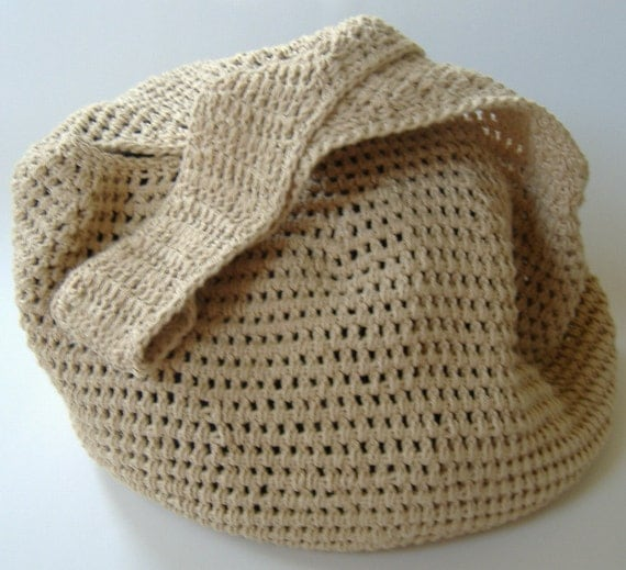 Crochet Hobo Bag : Hobo Bag - Crochet Hobo Bag - Large Bag - Beach Bag - Large Market Bag ...