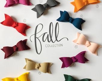 "Fall ""Harper"" Felt Bow Collection"
