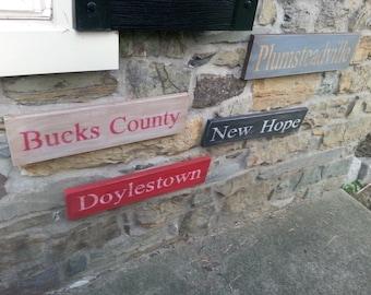 Custom YOUR Hometown Sign