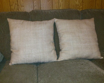 Elegant Silk and Flax Decorative Pillow