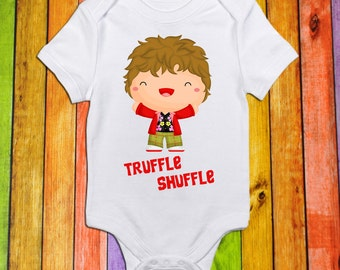 Truffle Shuffle Bodysuit or Tshirt Nerd Shirts Geeky Pop Culture Short Sleeve Shirt or Bodysuit for Baby and Toddler