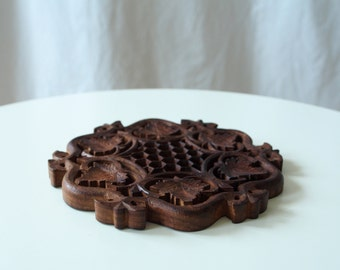 Bohemian Decor: Carved Wooden Tray