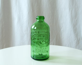 Vintage Green Bottle from Ohio - Bohemian Decor