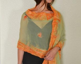 Orange/green shawl