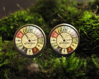 vintage clock stud earrings watch earrings steampunk earrings stud earings clock earrings watch stud earrings watch women tiny earring studs
