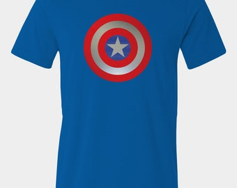 Mens Captain America Shield T-Shirt