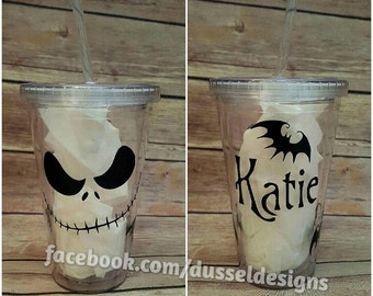 Nightmare before Christmas Personalized Tumbler