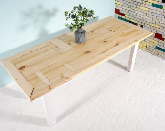 Dining table from recycled lumber HELMHOLTZ I.