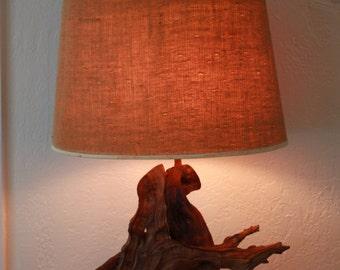 Vintage Mid Century 1960s Driftwood Lamp