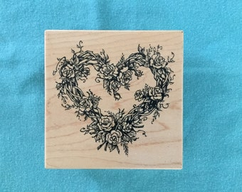 Roses & Heart Stamp