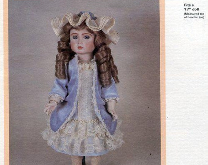 """FREE usa SHIP Byron Doll Pattern 1980's 17"""" BY-205 Emilee  New Old Store Stock Sewing Pattern"""