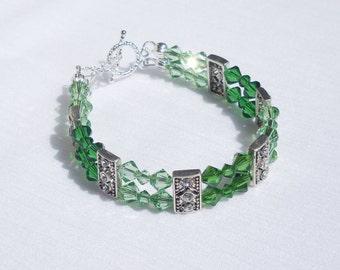 Swarovski green crystal bracelet