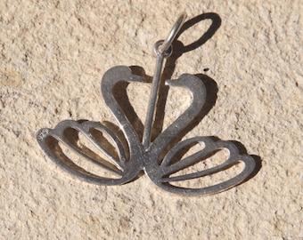 Vintage sterling silver 925 Greek Swans charm jewelry.