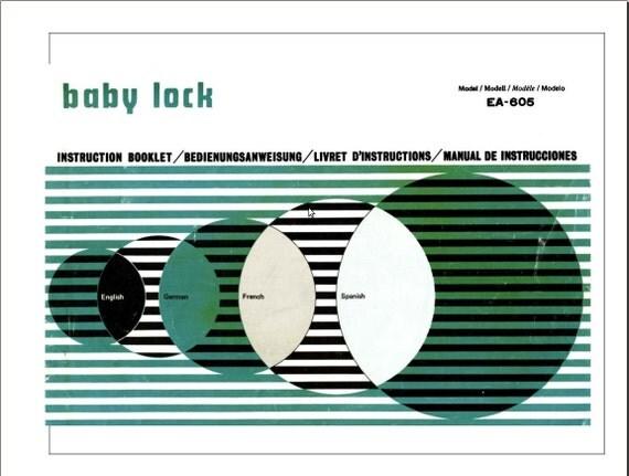 Babylock bl5370 Serger Manual Free