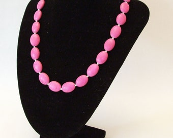 Pink Howlite and Silver Necklace