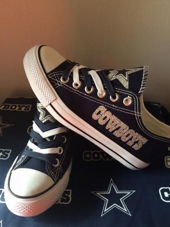 dallas cowboys s glitter tennis shoe s by sportshoequeen