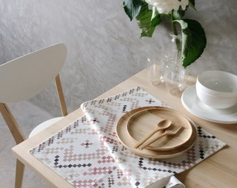 Watercolour Tea towel - The Woven in Pink