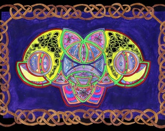Space Celtic Knotwork Sacred Geometry Angels